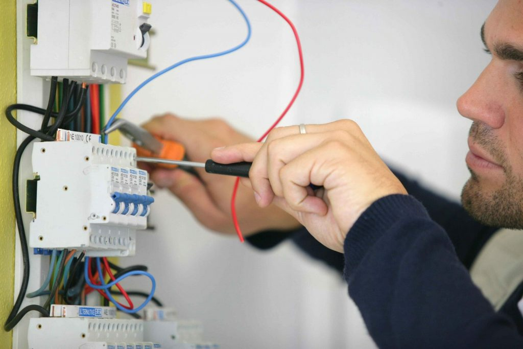 adding cables to an electrical panel in Kirby in Ashfield