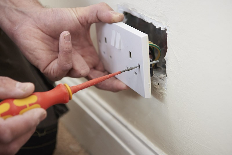 installing a new electrical outlet